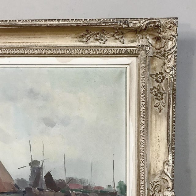 Early 20th Century Antique Framed Oil Painting on Canvas For Sale - Image 5 of 13