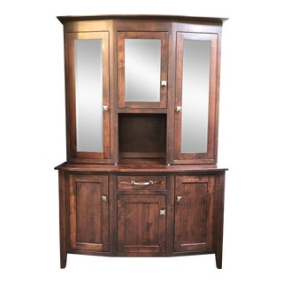 New Townline Furniture Richway Three Door Buffet & Hutch For Sale