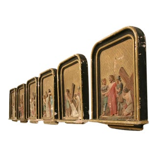 French Antique Stations of the Cross For Sale
