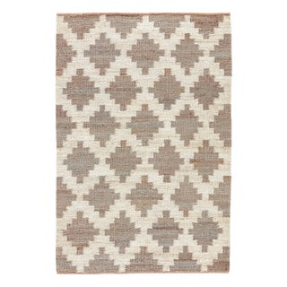 Jaipur Living Souk Natural Trellis Gray/ White Area Rug - 4′ × 6′ For Sale