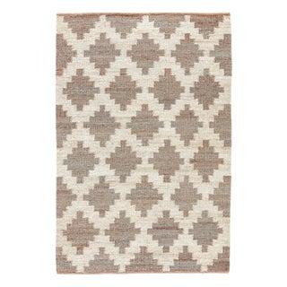 Jaipur Living Souk Natural Trellis Gray/ White Area Rug - 4′ × 6′ For Sale
