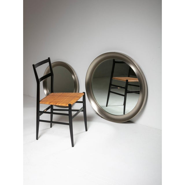 """1960s Pair of """"Narcisso"""" Wall Mirrors by Sergio Mazza for Artemide For Sale - Image 5 of 6"""