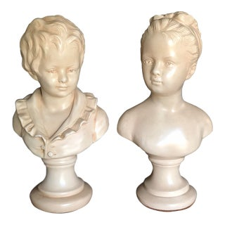Vintage Alexander Backer Busts - a Pair For Sale