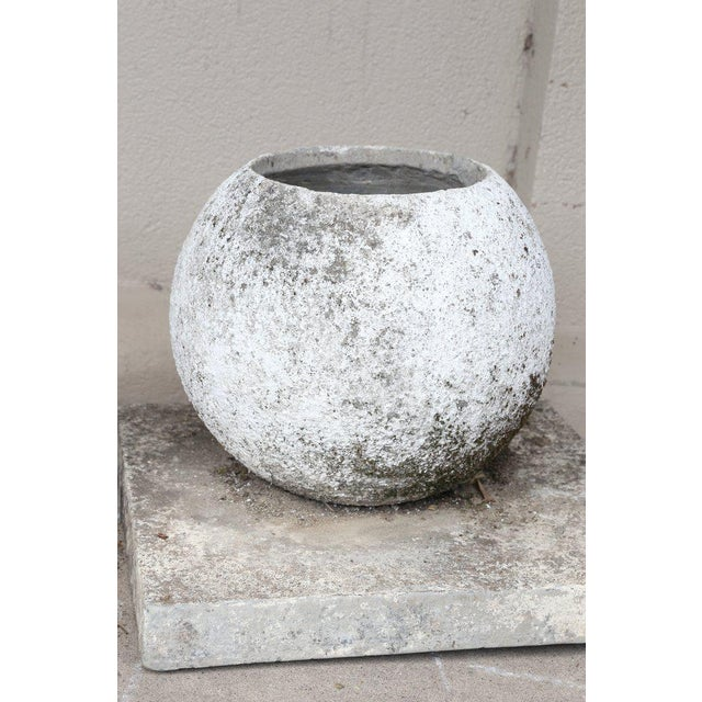 Mid-Century French Cast Stone Sphere Planter Trio For Sale - Image 10 of 11