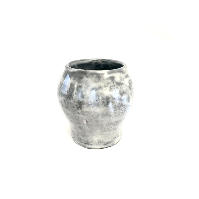 Blue & Gray Clay Vase - Image 3 of 4