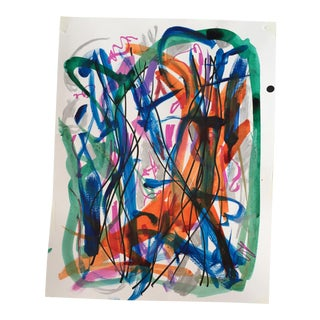 Erik Sulander Original Abstract Painting in Ink
