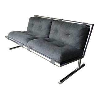 1970s Chrome Loveseat by Arthur Umanoff for Directional For Sale