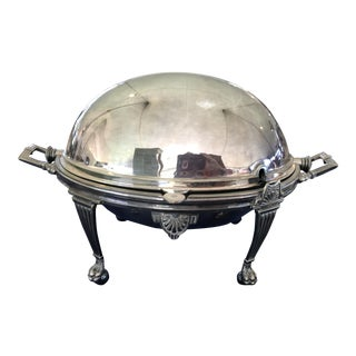 Antique English Silver Plated Revolving Breakfast Tureen