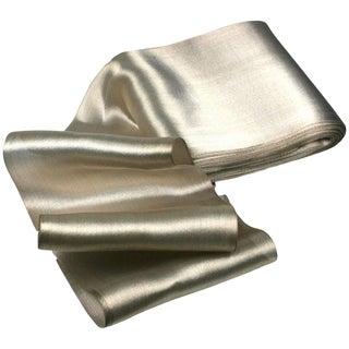 Antique Silk Lame Silver Ribbon For Sale