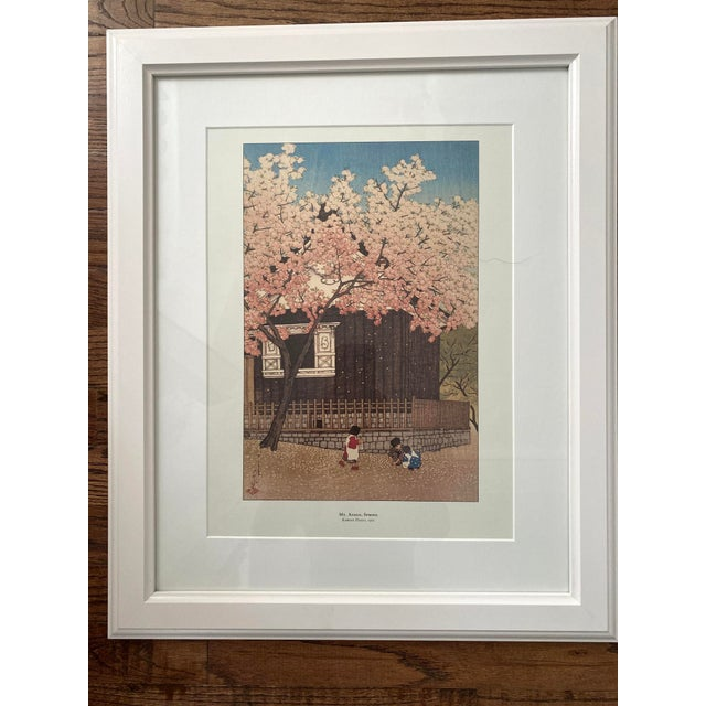 Framed Japanese Woodblock Reproduction Prints After Kawase Hasui - Set of 3 For Sale In Denver - Image 6 of 13