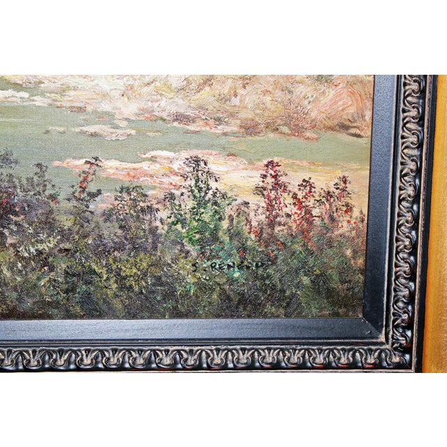 Canvas Large Country Stream Painting For Sale - Image 7 of 10