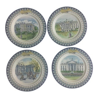 1992 Tiffany's White House Bicentennial Plates - Set of 4 For Sale