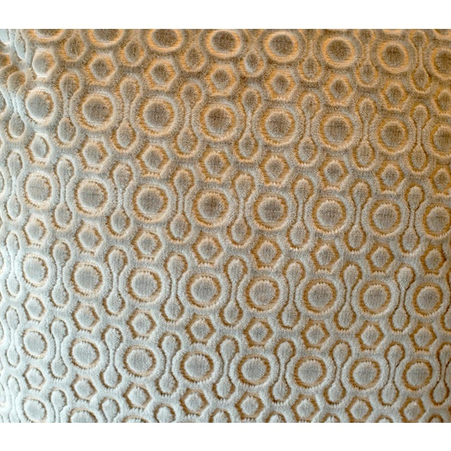 Italian Cut Velvet Pillow Covers - A Pair For Sale - Image 4 of 5