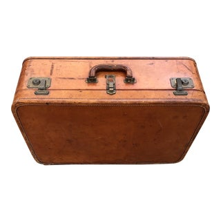 1940's Cavanaugh Leather Suitcase