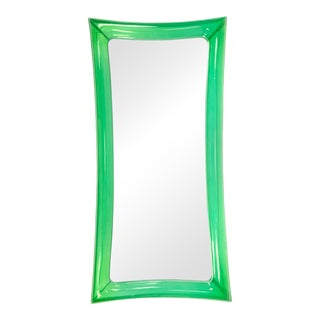 1990s Translucent Acrylic Green Mall Dressing Room Mirror For Sale