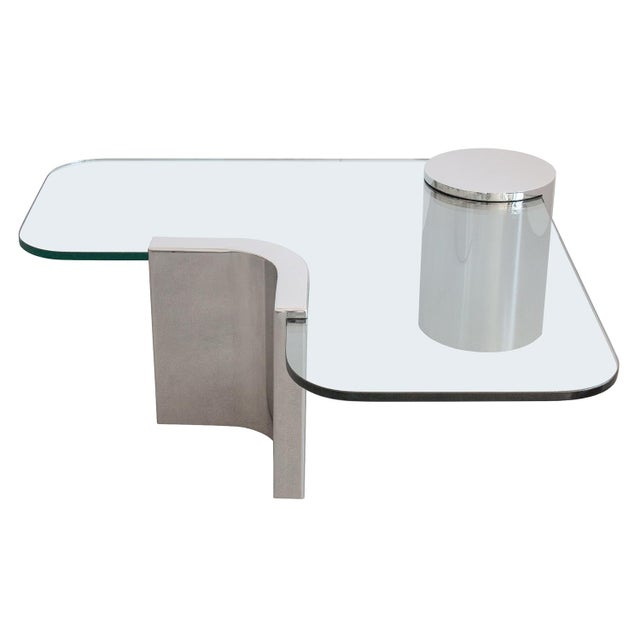 Polished Steel Cantilever Coffee Table - Image 11 of 11