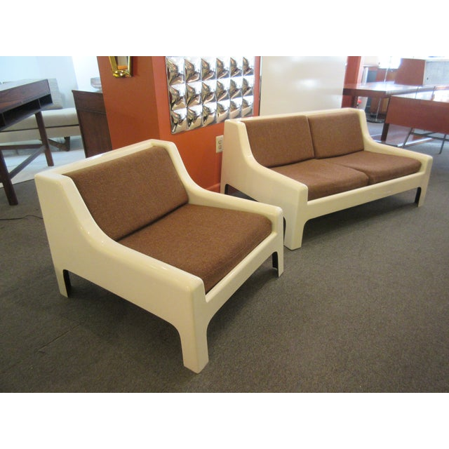 Cappellini Sofa and Chair set in Painted White Fiberglass - Image 10 of 10