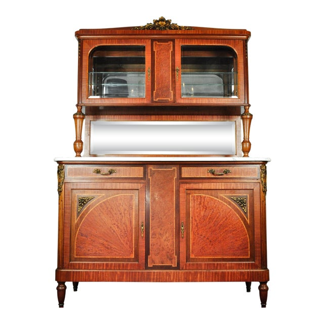 Antique Sandwood Mahogany Hutch or Cabinet For Sale
