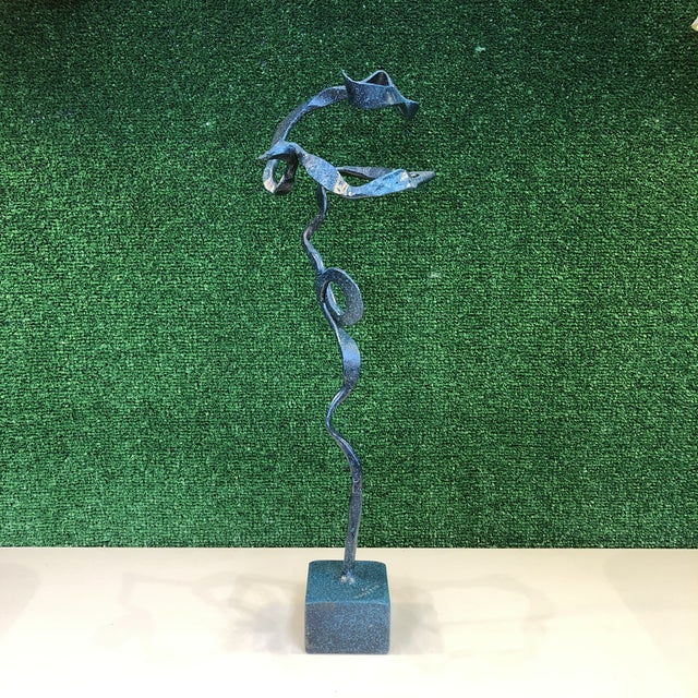 Freeform Verdigris Bronze Sculpture For Sale - Image 4 of 9