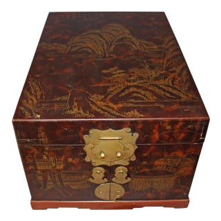 Mid 20th Century Japanese Lacquer Box For Sale
