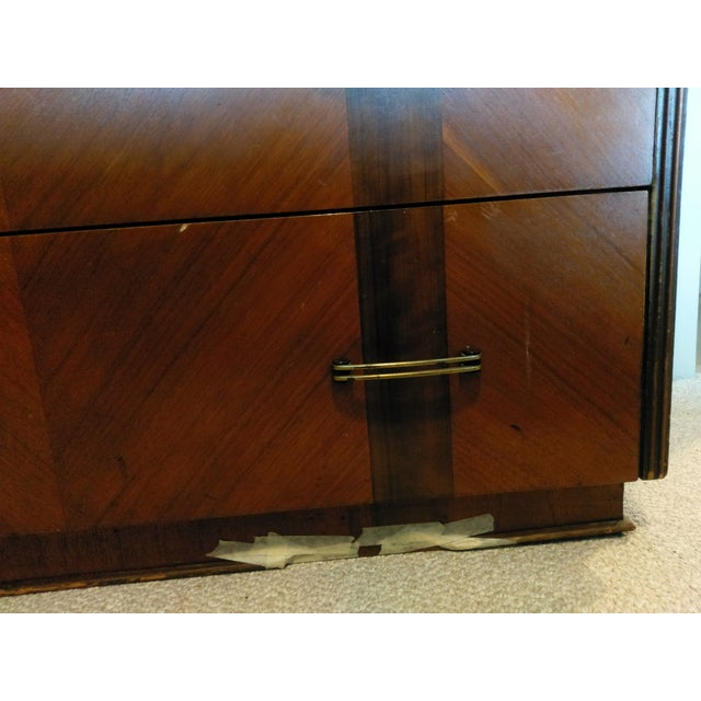 Vintage Mid-Century Dark Wood Dresser - Image 8 of 9