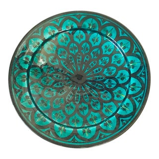Moroccan Footed Bowl Catchall Wall Decor For Sale