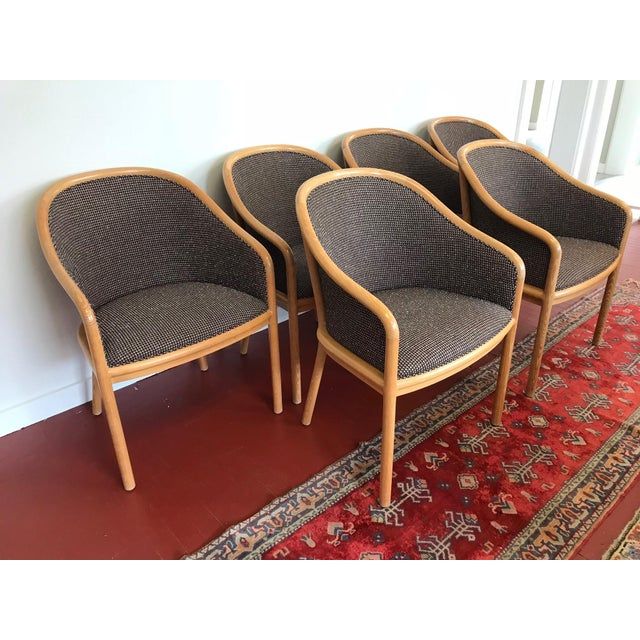 Set of 6 (12 are available) Landmark Chairs Designed by Ward Bennett for Brickel Associates (Now Geiger) available through...