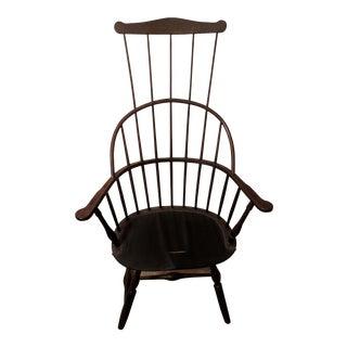 Vintage High Back Windsor Chair For Sale