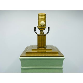Visual Comfort Celadon and Brass Ming Style Lamp Preview