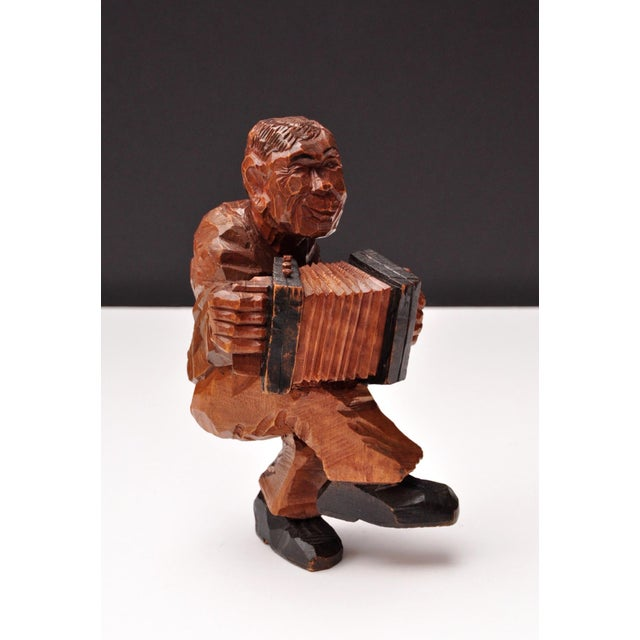 Accordion Player in German Expressionist Style For Sale - Image 4 of 11