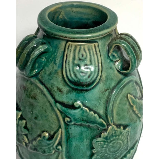Early 20th Century Chinese Green Glazed Lotus Motif Vase For Sale - Image 5 of 10