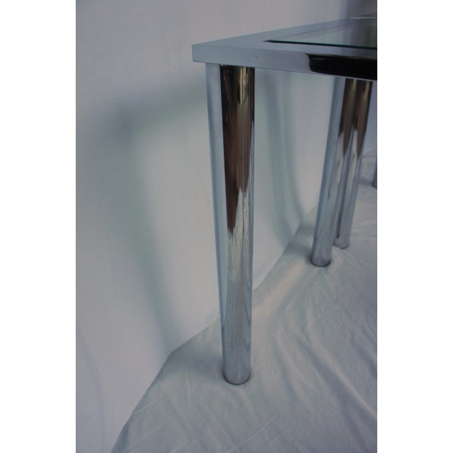 Milo Baughman Chrome & Glass End Tables - A Pair For Sale - Image 11 of 11