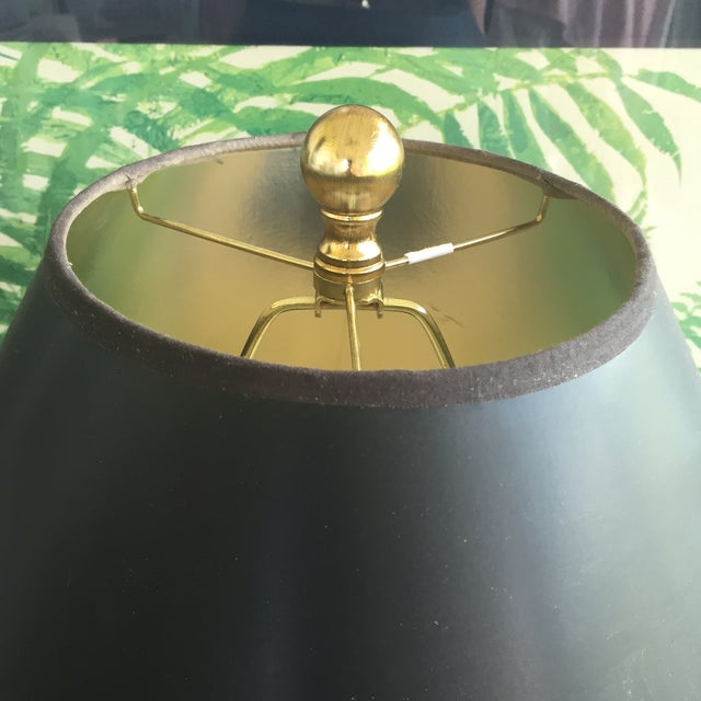 Mid Century Modern Royal Blue Drip Glaze Ceramic Table Lamp - Image 9 of 11