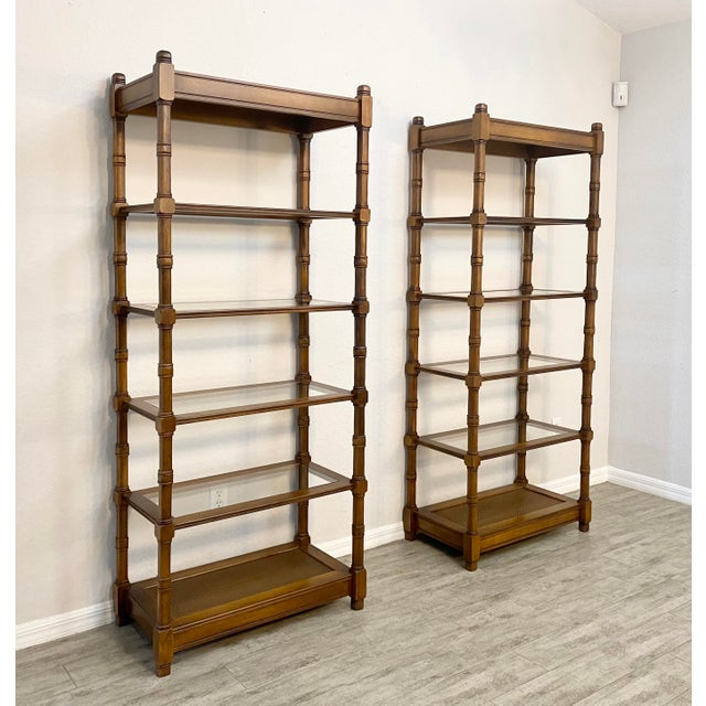 Mid-Century Modern 1950s Mid Century Modern Etageres Bookcases - a Pair For Sale - Image 3 of 6