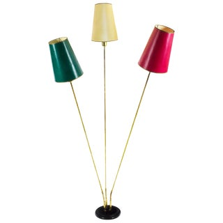 1950-1960 Large Standing Lamp with Three Arms For Sale