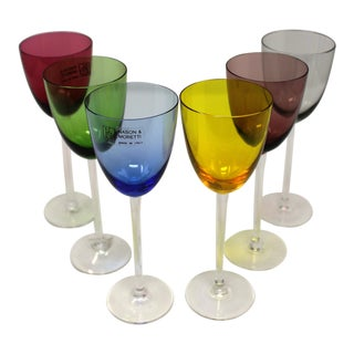Murano Glass Wine or Aperitif Glasses - Set of 6 For Sale