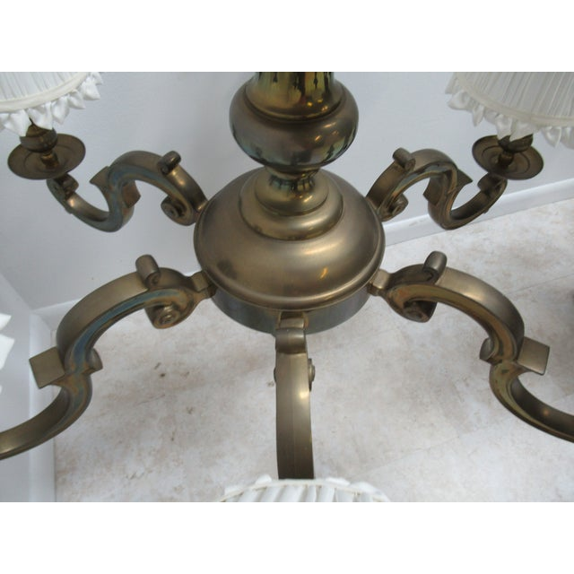 Brass 1974 Vintage Chapman Brass French Monumental Chandeliers - a Pair For Sale - Image 7 of 13