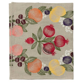 Cottage Fruits Garland Table Runner For Sale