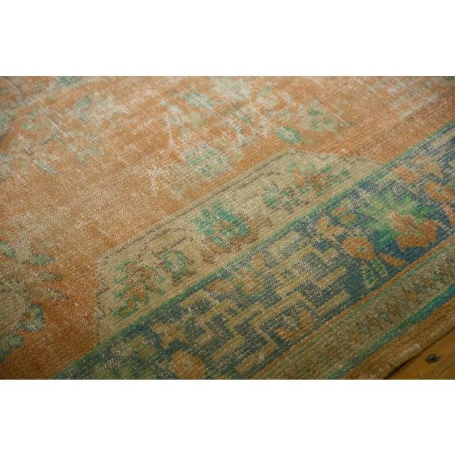 """Orange Vintage Distressed Oushak Carpet - 6'2"""" X 9'8"""" For Sale - Image 8 of 13"""