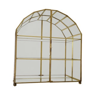 Mid-Century Modern Regency Wall-Mounted Brass Etagere