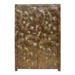 Dragon Swirl Armoire - Brass For Sale