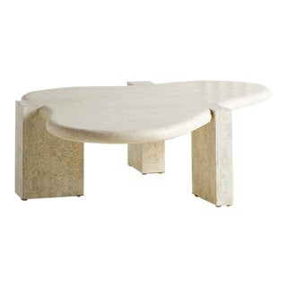 Tessellated Stone Amoebic Shaped Coffee Table For Sale