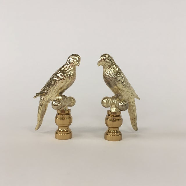 Gold Parrot Finials – Pair For Sale In Richmond - Image 6 of 6
