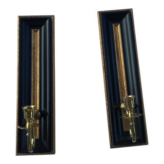 Hollywood Regency Candle Wall Sconces - a Pair For Sale