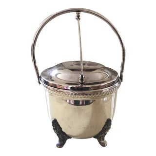 Mid 20th Century Silver Plate English Ice Bucket For Sale