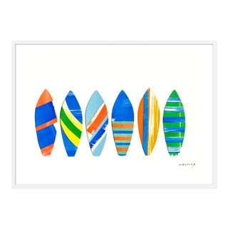 "Medium ""Tavola Da Surf Blu"" Print by Melvin G., 46"" X 33"""
