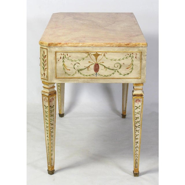 Neoclassical Neoclassical Style Painted Dressing Table or Desk For Sale - Image 3 of 13