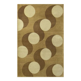 Contemporary Hand Woven Rug - 5' X 8' For Sale