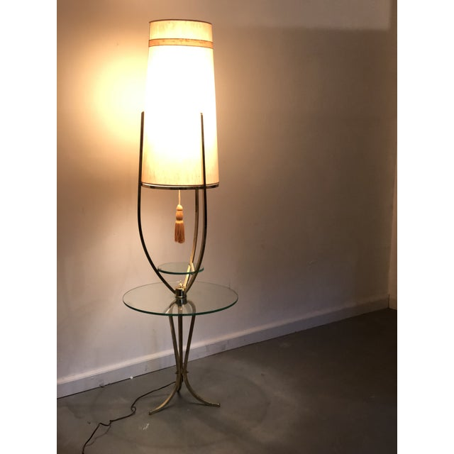 Mid Century Modern /Hollywood Regency Floor Lamp with Table For Sale - Image 11 of 12
