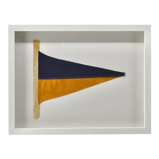 1970s Vintage Framed Signal Flag For Sale